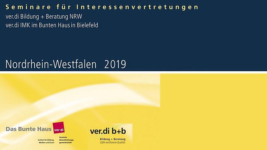 ver.di b+b Programm NRW Cover 2019 (Bühne)