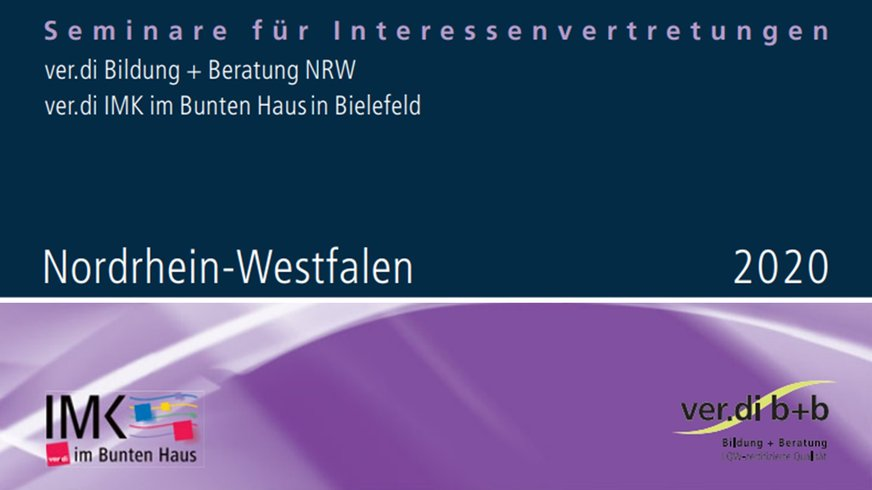 Cover Bildungsprogramm ver.di b+b NRW 2020